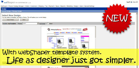 Template System makes design changes much easier